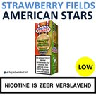American Stars E-liquid Strawberry Fields Forever Low