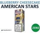American Stars E-liquid Blueberry Cheesecake Zero