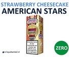 American Stars E-liquid Strawberry Cheesecake Zero