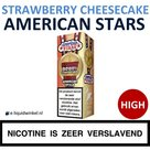 American Stars E-liquid Strawberry Cheesecake High