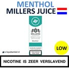 Millers Juice e-liquid Menthol Low