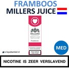 Millers Juice e-liquid Framboos Medium