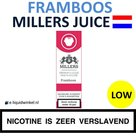 Millers Juice e-liquid Framboos Low