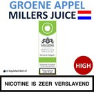Millers Juice e-liquid Groene Appel High