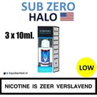 Halo E-liquid SubZero 3 x 10ml. Low