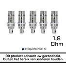 Aspire Nautilus Mini BVC Coils 1.8 Ohm