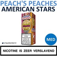 American Stars E-liquid Peach's Peaches Medium